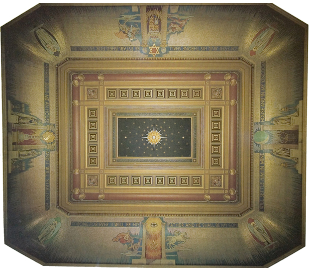 Ceiling of the Grand Temple at Freemason's Hall